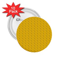 Yellow Dots Pattern 2 25  Buttons (10 Pack)  by BangZart