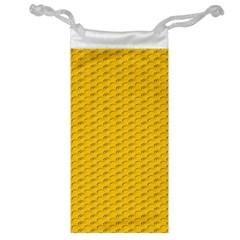 Yellow Dots Pattern Jewelry Bag by BangZart