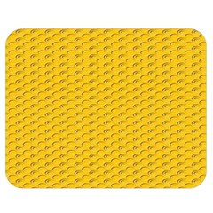Yellow Dots Pattern Double Sided Flano Blanket (medium)  by BangZart