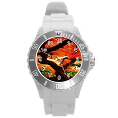 Maple Tree Nice Round Plastic Sport Watch (l) by BangZart