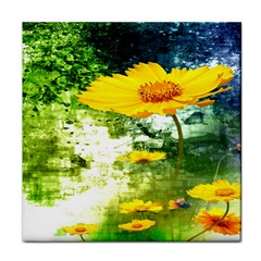 Yellow Flowers Tile Coasters by BangZart