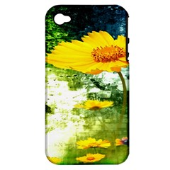Yellow Flowers Apple Iphone 4/4s Hardshell Case (pc+silicone) by BangZart