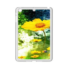 Yellow Flowers Ipad Mini 2 Enamel Coated Cases by BangZart