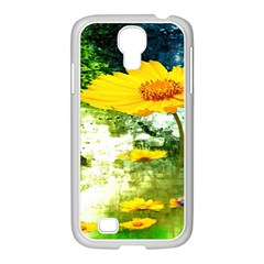 Yellow Flowers Samsung Galaxy S4 I9500/ I9505 Case (white) by BangZart