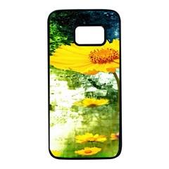 Yellow Flowers Samsung Galaxy S7 Black Seamless Case