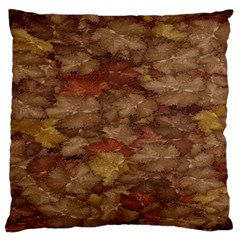 Brown Texture Large Cushion Case (Two Sides)