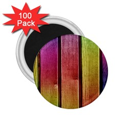 Colourful Wood Painting 2 25  Magnets (100 Pack)  by BangZart