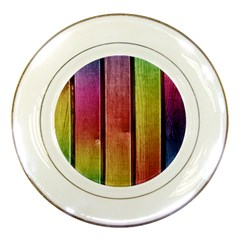 Colourful Wood Painting Porcelain Plates by BangZart