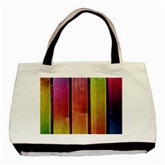 Colourful Wood Painting Basic Tote Bag by BangZart