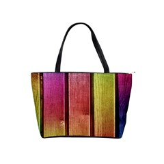 Colourful Wood Painting Shoulder Handbags by BangZart