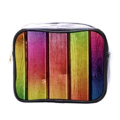 Colourful Wood Painting Mini Toiletries Bags by BangZart