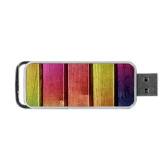 Colourful Wood Painting Portable Usb Flash (two Sides) by BangZart