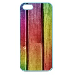 Colourful Wood Painting Apple Seamless Iphone 5 Case (color) by BangZart