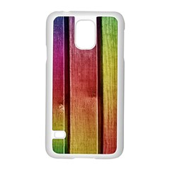 Colourful Wood Painting Samsung Galaxy S5 Case (white) by BangZart