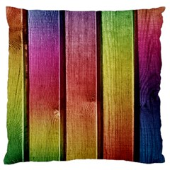 Colourful Wood Painting Large Flano Cushion Case (two Sides) by BangZart