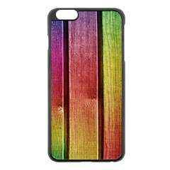 Colourful Wood Painting Apple Iphone 6 Plus/6s Plus Black Enamel Case by BangZart