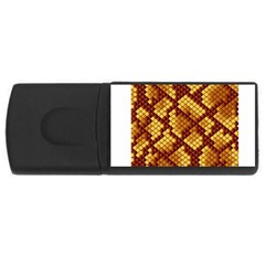 Snake Skin Pattern Vector Usb Flash Drive Rectangular (4 Gb) by BangZart
