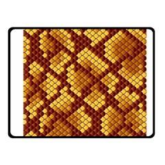 Snake Skin Pattern Vector Fleece Blanket (small) by BangZart