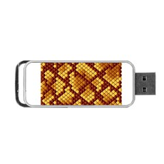 Snake Skin Pattern Vector Portable Usb Flash (two Sides) by BangZart