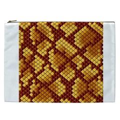 Snake Skin Pattern Vector Cosmetic Bag (xxl)  by BangZart