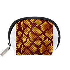 Snake Skin Pattern Vector Accessory Pouches (small)  by BangZart