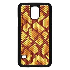Snake Skin Pattern Vector Samsung Galaxy S5 Case (black) by BangZart