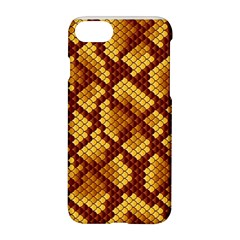 Snake Skin Pattern Vector Apple Iphone 7 Hardshell Case by BangZart