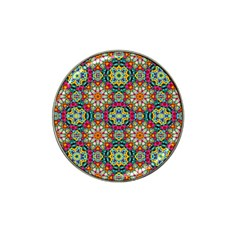 Jewel Tiles Kaleidoscope Hat Clip Ball Marker (4 Pack) by WolfepawFractals
