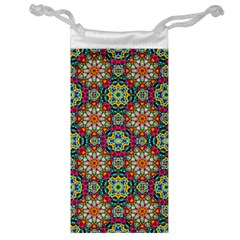 Jewel Tiles Kaleidoscope Jewelry Bag by WolfepawFractals