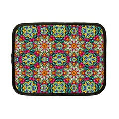 Jewel Tiles Kaleidoscope Netbook Case (small)  by WolfepawFractals