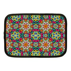 Jewel Tiles Kaleidoscope Netbook Case (medium)  by WolfepawFractals