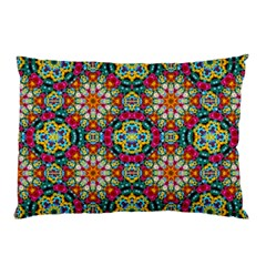 Jewel Tiles Kaleidoscope Pillow Case by WolfepawFractals