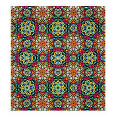 Jewel Tiles Kaleidoscope Shower Curtain 66  X 72  (large)  by WolfepawFractals