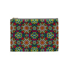 Jewel Tiles Kaleidoscope Cosmetic Bag (medium)  by WolfepawFractals