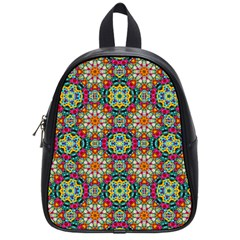Jewel Tiles Kaleidoscope School Bags (small)  by WolfepawFractals