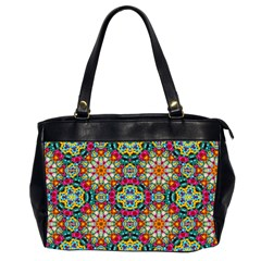 Jewel Tiles Kaleidoscope Office Handbags (2 Sides)  by WolfepawFractals