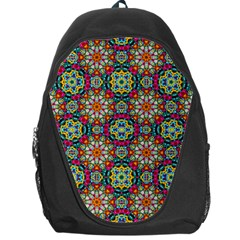 Jewel Tiles Kaleidoscope Backpack Bag by WolfepawFractals