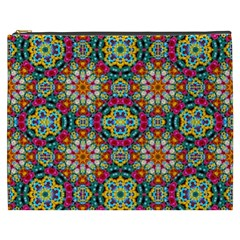Jewel Tiles Kaleidoscope Cosmetic Bag (xxxl)  by WolfepawFractals