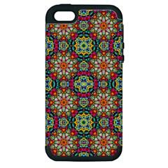 Jewel Tiles Kaleidoscope Apple Iphone 5 Hardshell Case (pc+silicone) by WolfepawFractals