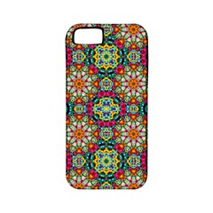 Jewel Tiles Kaleidoscope Apple Iphone 5 Classic Hardshell Case (pc+silicone) by WolfepawFractals