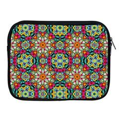 Jewel Tiles Kaleidoscope Apple Ipad 2/3/4 Zipper Cases by WolfepawFractals