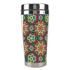 Jewel Tiles Kaleidoscope Stainless Steel Travel Tumblers by WolfepawFractals