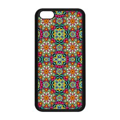 Jewel Tiles Kaleidoscope Apple Iphone 5c Seamless Case (black) by WolfepawFractals