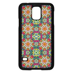 Jewel Tiles Kaleidoscope Samsung Galaxy S5 Case (black) by WolfepawFractals