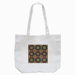 Jewel Tiles Kaleidoscope Tote Bag (white) by WolfepawFractals