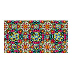 Jewel Tiles Kaleidoscope Satin Wrap by WolfepawFractals