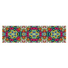 Jewel Tiles Kaleidoscope Satin Scarf (oblong) by WolfepawFractals