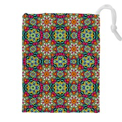 Jewel Tiles Kaleidoscope Drawstring Pouches (xxl) by WolfepawFractals
