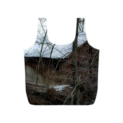 Abondoned House Full Print Recycle Bags (S)  by TailWags