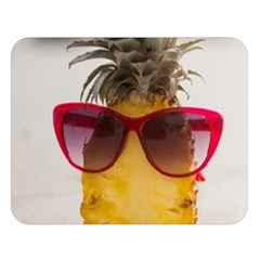 Pineapple With Sunglasses Double Sided Flano Blanket (large)  by VandDdesigns